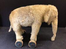 Antique Early 1930s Steiff Elephant on Wheels Rare Worn