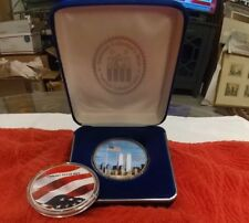 US MINT America United 2001 Silver Eagle Dollar .999 PURE SILVER 1OZ TWIN TOWERS