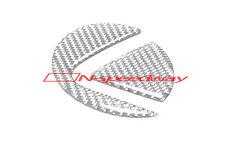 For 2006-2013 Lexus IS F 250 350 Gray Carbon Fiber Trunk Emblem Filler Sticker