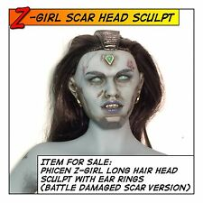 Phicen Hot Z-Girl Head Sculpt Battle Damage Ver fit 1/6 12 in Female Figure Toys