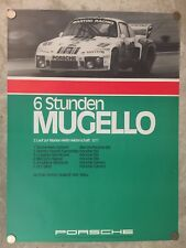 1977 Porsche 935 6 Hours of Mugello Showroom Advertising Poster RARE!! Awesome