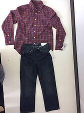 Ralph Lauren & Calvin Klein Outfit, JOBLOT Age 7-8 Skinny Jeans Shirt New
