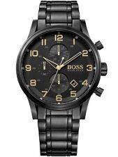 New Hugo HB1513275 Boss Men Black Aeroliner Watch