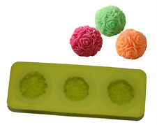 Silicone Soap Mold Candle Mold Plaster Mold Rose Ball Design 35g(1.2oz)
