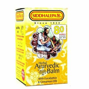 siddalepa ayurveda ayurvedic herbal balm  pain cold flu headaches 100g