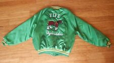 Vintage KING LOUIE PRO FIT XL FIFE Clydesdales Bomber Kelly Green Striped Jacket