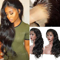 Silk Top Body Wave Full Lace Wigs Brazilian Remy Human Hair 360 Lace Front Wig @