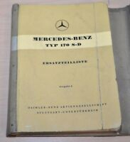 Mercedes Benz Typ O 3500 O312 Omnibus Bus Ersatzteilliste Ersatzteilkatalog 1953