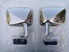 NEU NOS Außenspiegel Set links + rechts Edelstahl Opel Commodore B Rekord D