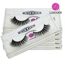 Wholesale 10 Boxes Real Mink 3D Winged False Eyelashes Cross Eye Lashes Makeup