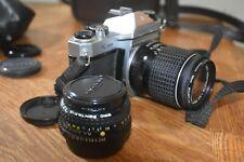 Asahi Pentax SE K1000 SLR  Camera Two lenses Pentax 1:2 50 mm  & 135 mm lens