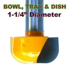 "1 pc 1/2"" Shank 1-1/4"" Diameter Dish, Bowl and Tray Router Bit  sct 888"