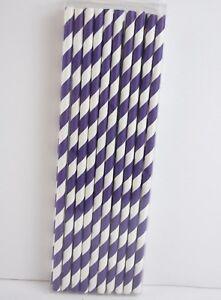 Craft DIY Paper Straws Purple Comunion Birthday Baby Shower Wedding XV Party