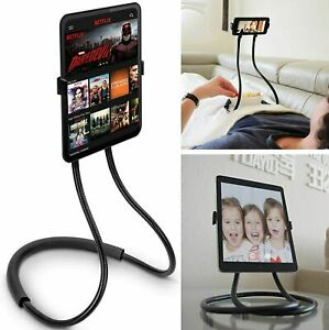 Universal Lazy Neck Mobile Phone Tablet Holder Flexible Hanging Mount Necklace