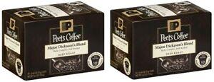 Peet's Coffee Major Dickason's Blend Deep Roast Keurig K-Cups 2 Box Pack