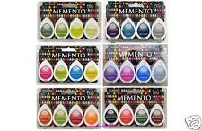 Tsukineko MEMENTO DEW DROP Lot of 24 DYE Pads = 6 Sets of  4 Ink Pads