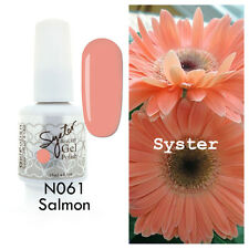 SYSTER 15ml Nail Art Soak Off Color UV Lamp Gel Polish N061 - Salmon