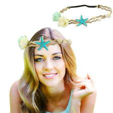 Beach Headband Starfish Flower Sea Shell Elastic Fancy Dress Party Hair Band Pop