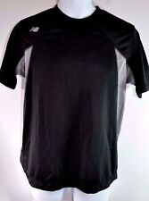 New Balance Men's S T Shirt Over N Out Black Gray Performance Tee Short Sleeve