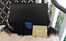 Michael Kors COLLECTION Mia French Calf & Ostrich Feather Shoulder Bag $1750