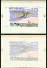 Uganda 1987 500s 1911 Coronation Aerial Post/monoplane