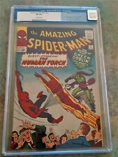 Amazing Spider-Man 17 CGC 8.0 Off White Pages 2nd Appearance Green Goblin 1964