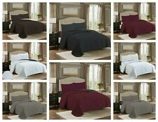 Luxury Comfort 2/3 PC Bed Spread & Coverlet Soft Solid Sheet Set Hotel Quality