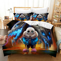 3D Undertale Design Duvet Cover 3PCS Bedding Set Comforter Cover Pillowcase