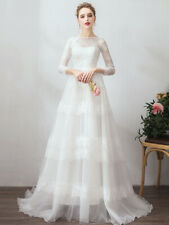 modern style lace wedding dress romantic simple bridal gown