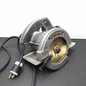 Fine Vintage Porter Cable 146a 6 3/4 Circular Saw Great Condition Chrome Shines