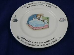 Wedgwood Beatrix Potter Poorly Peter Rabbit in bed