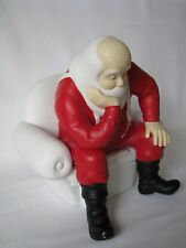 DEPARTMENT 56 WINTER SILHOUETTE YOUR MOVE SANTA WHITE PORCELAIN 78561 (RARE)