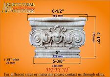 Hand Carved Solid Wood Capital. cap_57720_1