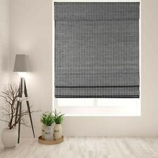 Arlo Blinds Semi-Privacy Grey-Brown Bamboo Roman Shades with Cordless Privacy Gr
