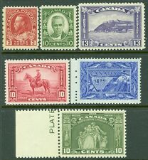 EDW1949SELL : CANADA Nice group of 6 different. All VF, Mint NH. Cat $242.