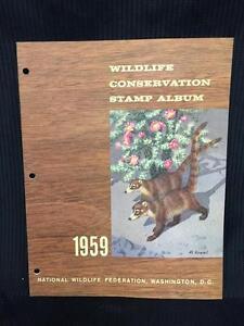 1959 Wildlife Conservation Stamp Album Caoti - Collectors
