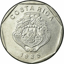 [#720853] Coin, Costa Rica, 5 Colones, 1985, EF(40-45), Stainless Steel