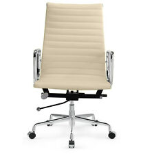Management Office Chair - Eames Reproduction - High Back - Cream Italian Leather