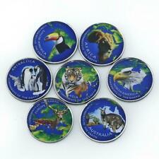 Azad Jammu and Kashmir set of 7 coins animals world continents 2017