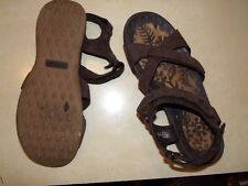 Lands' End Brown Leather Strappy Sandals Size 9B