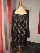 CHIC & GLAMOUR ROBE DRESS BRODERIE + BIJOUX  SAVE THE QUEEN T S 34 36 UK  6 8