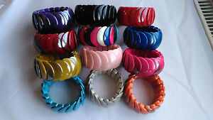 New Colour-ful Fashion Bracelet Stretchy Bangle Multi Bead Cord Funky fits all