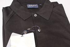 Bobby Jones Players Gent's 100% Pima Cotton Golf Polo Shirt Plain Black XL/XXXL