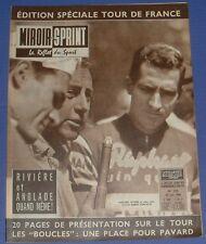 MIROIR SPRINT N°733 1960 CYCLISME TOUR FRANCE RIVIERE BOUCLES SEINE / PELE