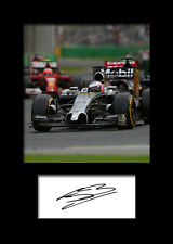 JENSON BUTTON #4 Signed Photo Print A5 Mounted Photo Print - FREE DELIVERY