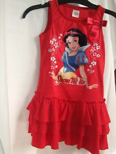 Superbe Robe ROUGE impression BLANCHE NEIGE -2/3a NEUVE