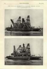 1914 Italian Submarine Salvage Vessel Anteo
