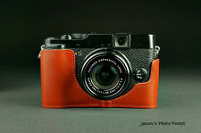 Handmade Vintage Real Leather Half Camera Case Camera Cover Bag for FUJI X20 X10