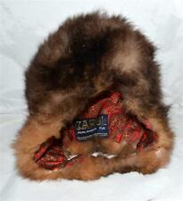 Vintage Carol Phalanger Brown Fox Fur Bonnet Childs Hat New Zealand Westland Fur