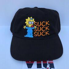 NWOT Vintage 2001 THE SIMPSONS Maggie Hat Adult Strap-Back Bart Homer Dad Hat